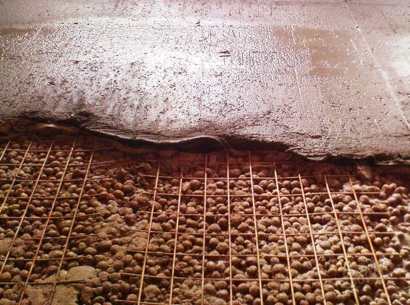 устройство стяжки пола кермзитом